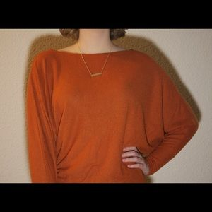 Fantastic Fawn Burnt Orange Long Sleeve Top